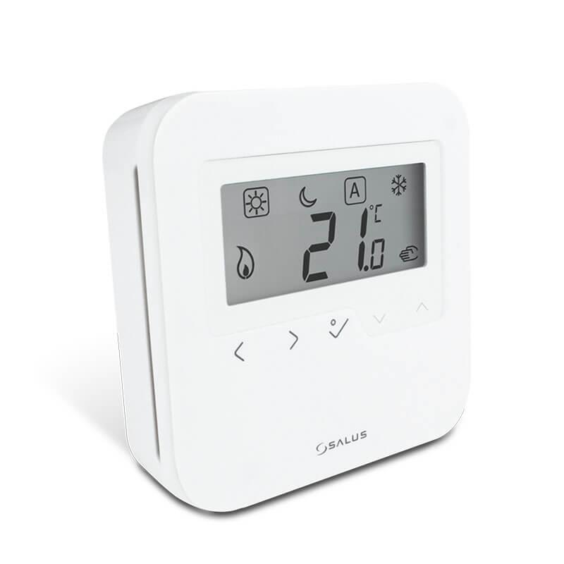 HTRS230 digitálny denný termostat SALUS HTRS230 od výrobcu Salus Controls je štýlový a presný digitálny priestorový termostat, ktorý je vybavený veľkým dobre čitateľným LCD displejom a dotykovými tlačidlami. Teraz môžete jednoducho prispôsobiť vykurovanie svojho domova podľa potreby za účelom vytvorenia príjemného domáceho prostredia.