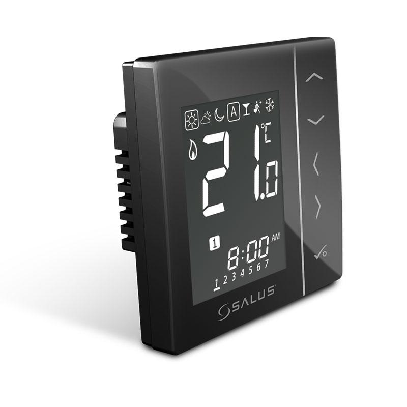 Digitálny drôtový podomietkový termostat 4v1 SALUSVS30W/VS30B