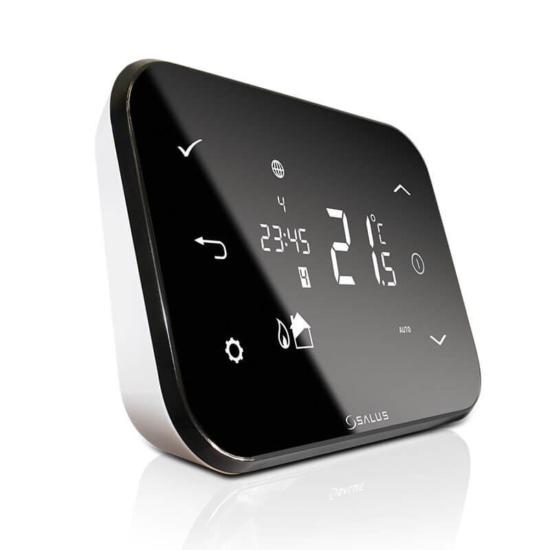 SALUS xT500je bezdrôtový týždenný programovateľný termostat, pomocou ktorého môžete jednoducho a efektívne nastaviť teplotu v miestnosti.