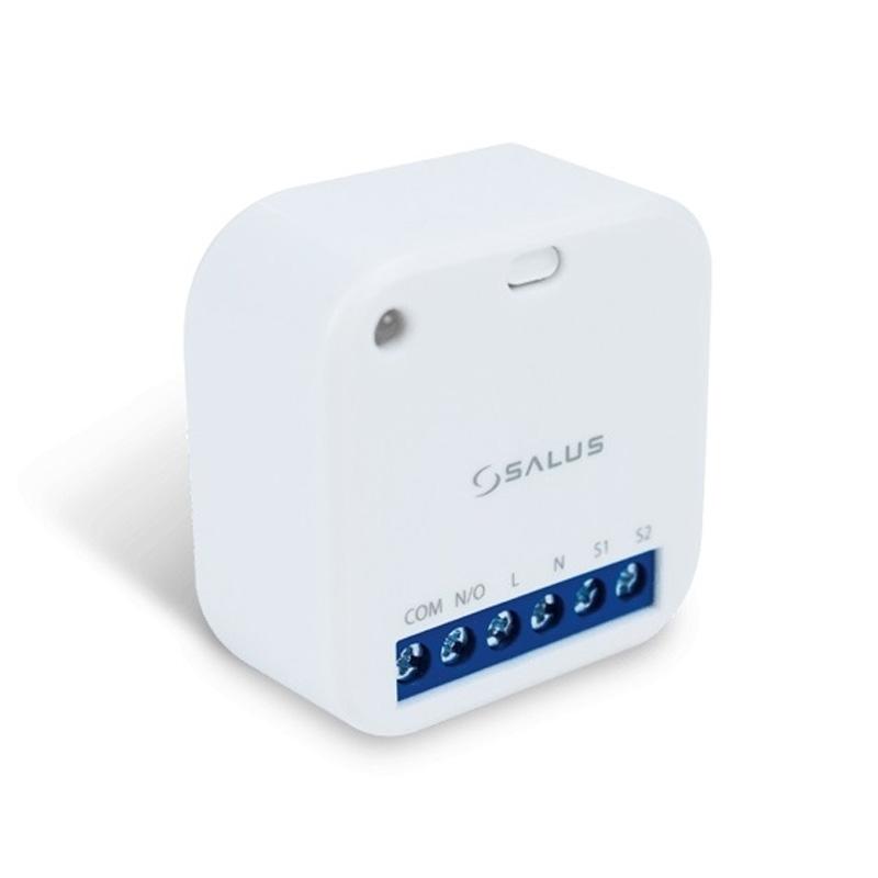 SALUS SR600 je spínacie SMART relé, ktoré sa používa na zapínanie a vypínanie zariadení s maximálnym zaťažením do 16 A